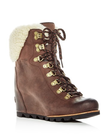Sorel Conquest Shearling Wedge